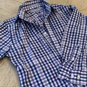 Nordstrom shades of purple checked shirt